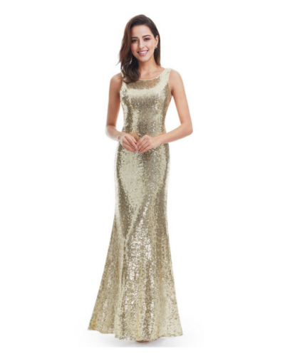 Stacy Sequined Evening Dress