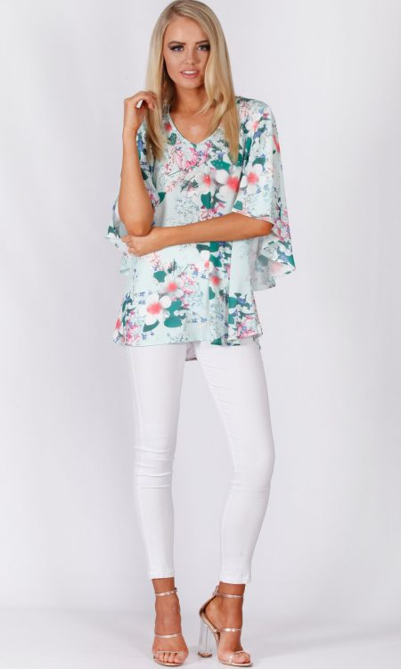 Spearmint Blossom Top