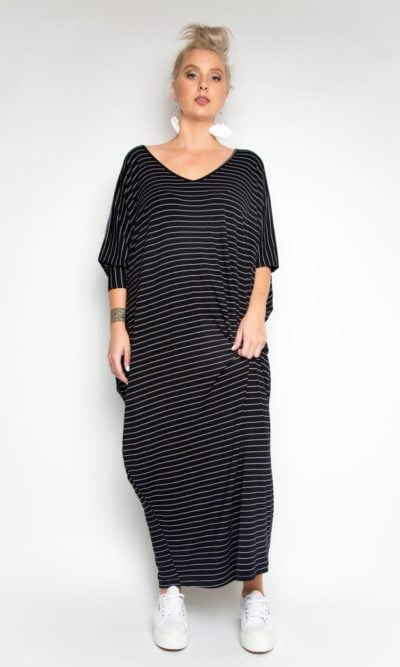 Pinstripe Maxi Miracle Dress