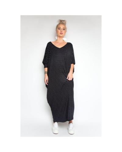 Pinstripe Maxi Miracle Dress