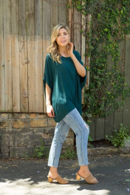 Emerald Drape Top
