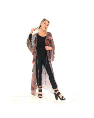 Desert Poppy Kimono