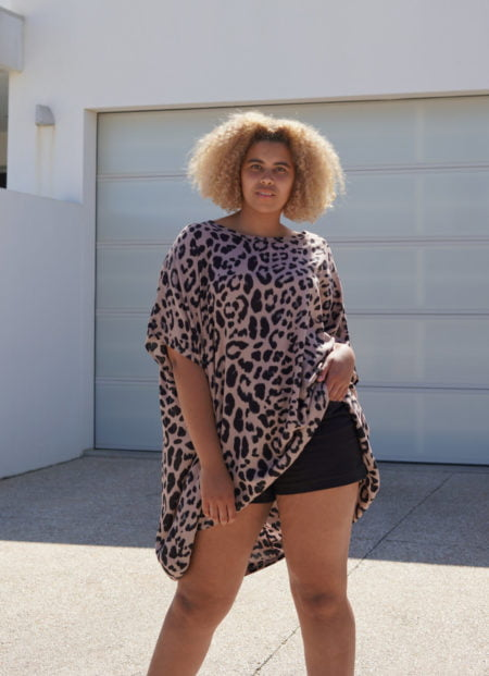 Kiik Drop Back Leopard Top