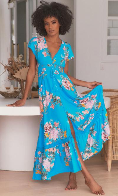 Jaase Blue Lagoon Maxi Dress