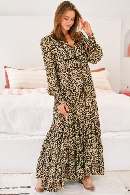 Jaase Jaguar Print Clyde Dress
