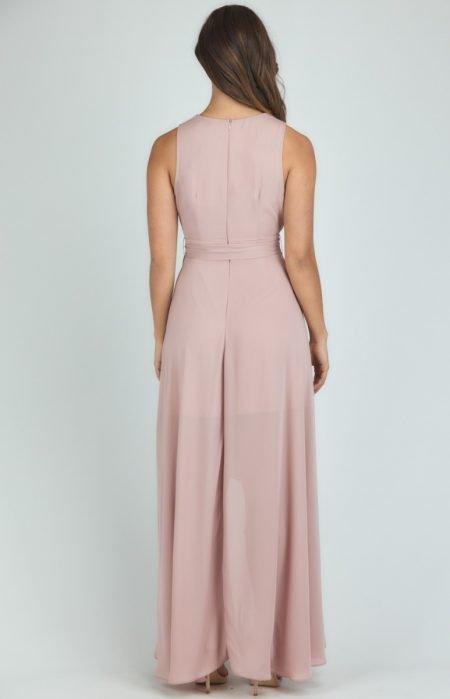 Blush Waterfall Maxi Dress